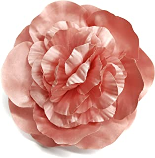 product image for Satin Peony Fabric Flower Pin Brooch - Hand-made in New York's Garment Center (American Made)