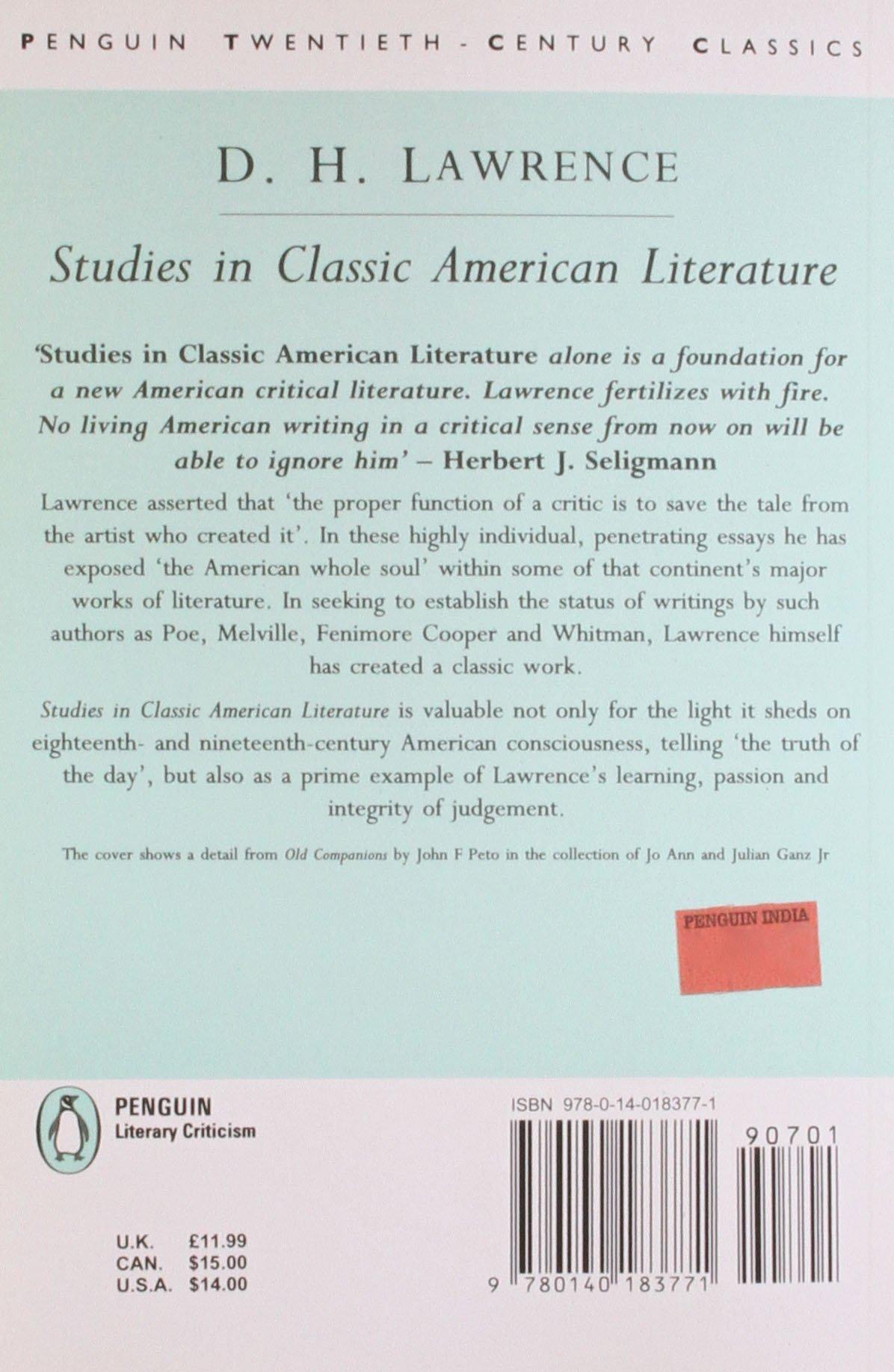 com studies in classic american literature classic th com studies in classic american literature classic 20th century penguin 9780140183771 d h lawrence books