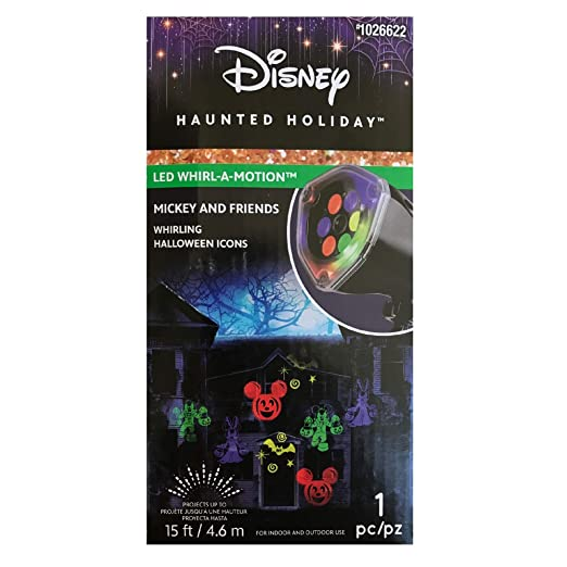 Gemmy LightShow Projection-Whirl-A-Motion-Mickey and Friends Halloween-Disney