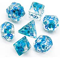 cusdie 7-Die DND Dice, Polyhedral Dice Set Filled with Flowers, for Role Playing Game Dungeons and Dragons D&D Dice MTG…