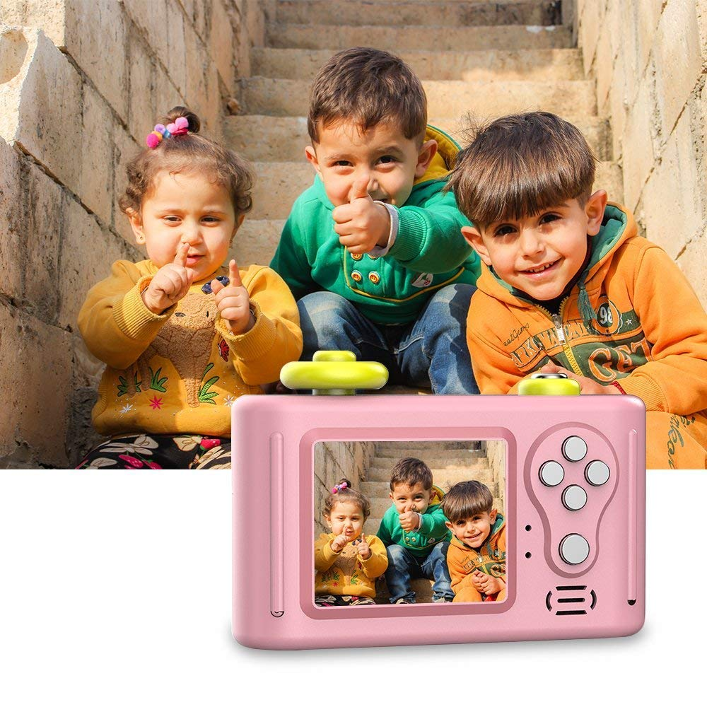 Digital Camera for Kids, HD 1080P Kids Camera with Photo Frame Mic Rechargeable Kids Video Camera (Pink) by GordVE (Image #2)