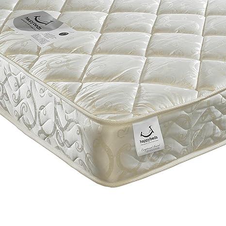 Happy Eclipse Acolchada Camas de colchón de muelles ensacados 800, Blanco, Doble pequeño (