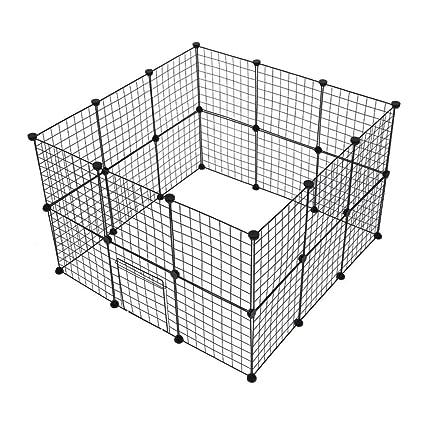 Jaula Plegable de Metal para Mascotas de 24 Paneles con Puerta ...