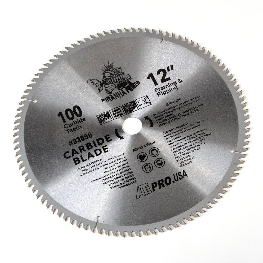 ATE Pro. USA 33056 Carbide Saw Blade, 12'', 100-Teeth