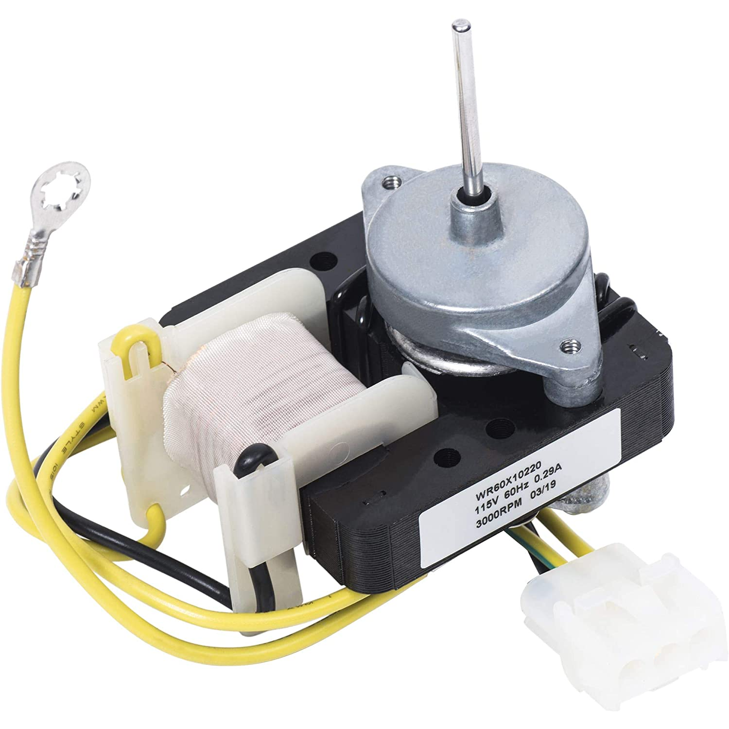 Ultra Durable WR60X10220 Refrigerator Condenser Fan Motor Replacement Part by Blue Stars – Exact Fit For GE & Hotpoint Refrigerators - Replaces AP4298602, WR60X10171, PS1766247