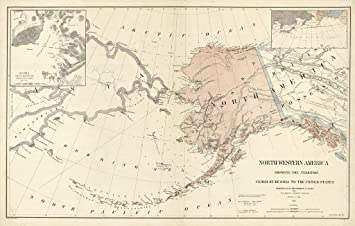 Amazon.com: Vintage Map of Northwestern America Showing The ... on lighthouse of america, alaska map united states, alaska usa map, alaska map with cities, alaska map canada, alaska map china, mexico of america, alaska north america, home of america, alaska map gold, canada of america,