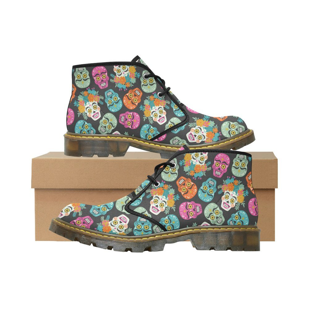 Artsadd Unique Debora Custom Women's Nubuck Chukka Boots Ankle Short Booties B0795K629L 9 B(M) US Multicolored17