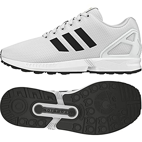 new style 9145a 53172 adidas Men s ZX Flux White Black Gold Metallic Running Shoes BA8655 7.5