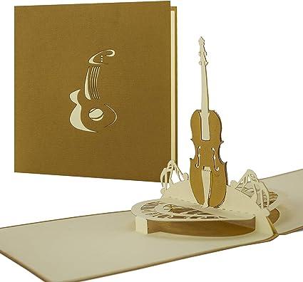 Tarjeta para músicos, tarjeta de felicitación, cumpleaños tarjeta ...