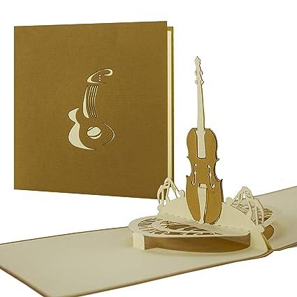 Tarjeta para músicos, tarjeta de felicitación, cumpleaños ...