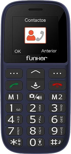 Teléfono Móvil Funker C65 Easy Plus, Fácil de Usar para Personas ...