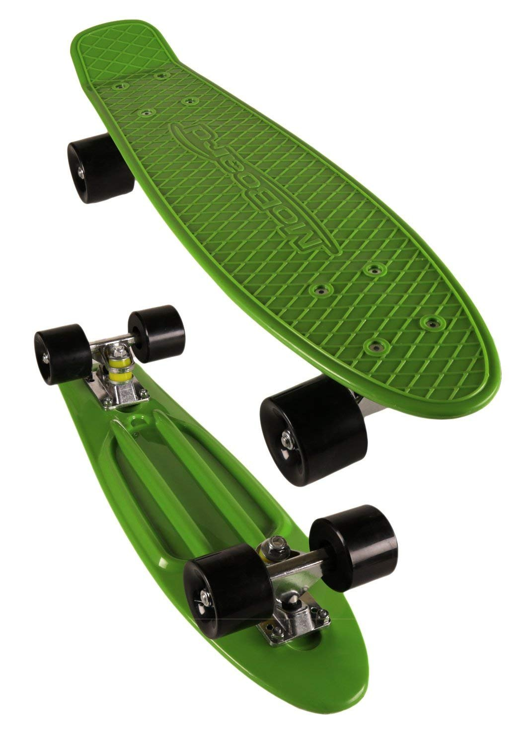 MoBoard 27'' Graphic Complete Skateboard, Green/Black