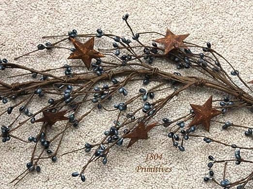 Faux Rustic Rusty Barn Star Garland` Crafting 3 Feet long