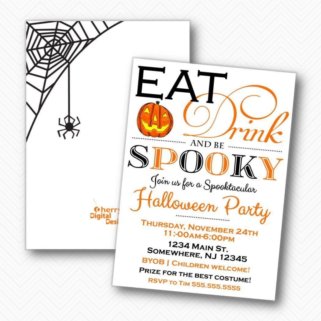 Amazon Com Eat Drink And Be Spooky Halloween Party