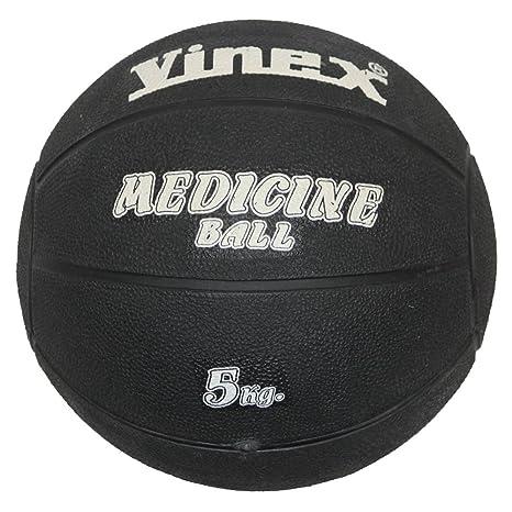 Boje Sport - Balón medicinal (caucho, 5 kg), color negro: Amazon ...