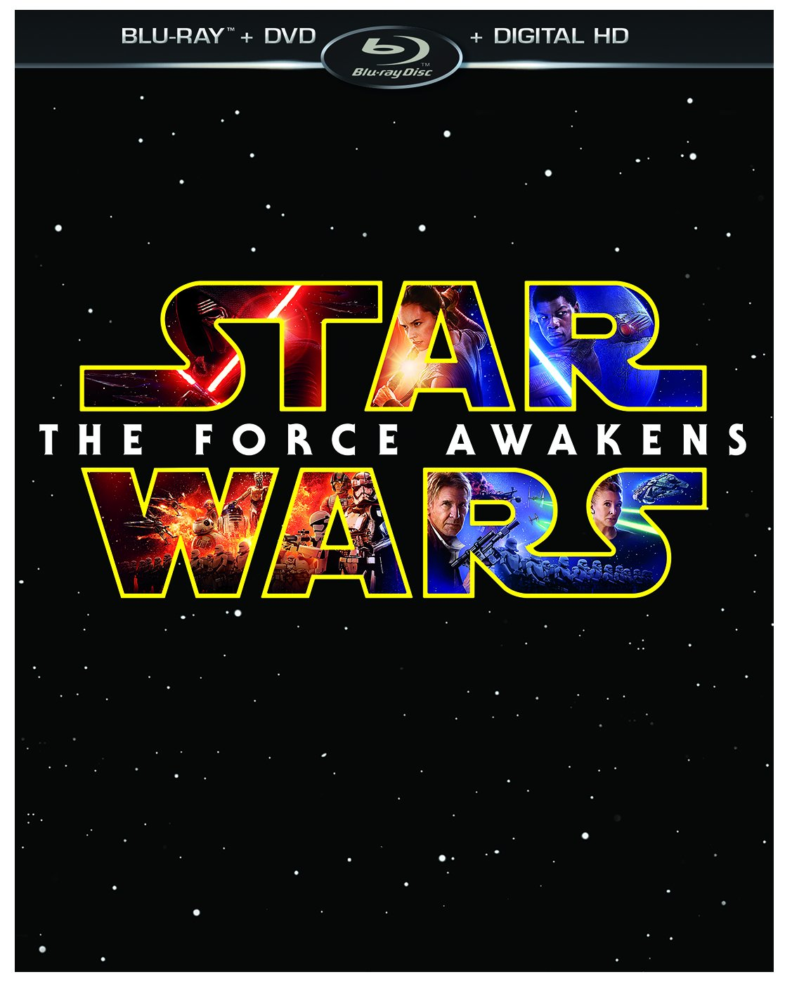 Blu-ray : Star Wars: Episode VII: The Force Awakens (With DVD, 3 Pack, Digitally Mastered in HD, 3 Disc)