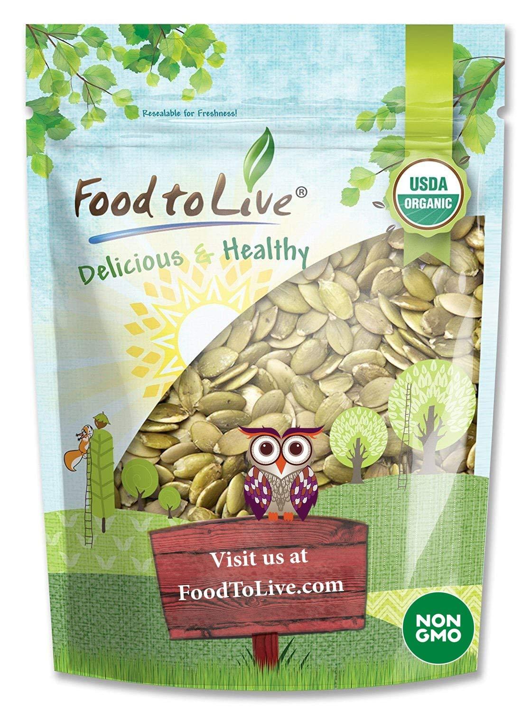 Pepitas / Semillas de calabaza orgánicas de Food to Live (Crudas, sin cascara) (1 Pound)