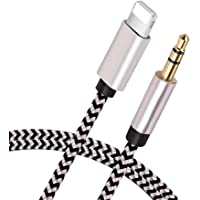 [Apple MFi Certified] iPhone AUX Cord for Car Stereo, Lightning to 3.5mm AUX Audio Nylon Braided Cable Compatible for…