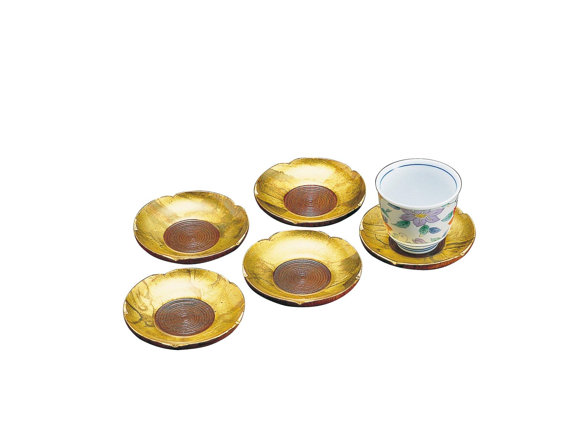 Handmade w/ Japanese Gold Paper Tajima Series: T12-17 Gold Saucer