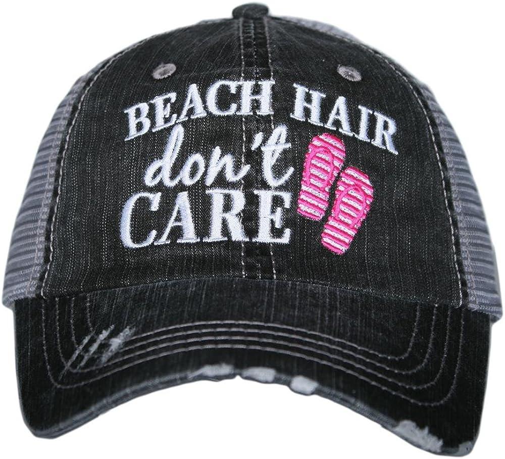 Beach Hair Don't Care FLIP FLOPS Women's Trucker Hats Caps
