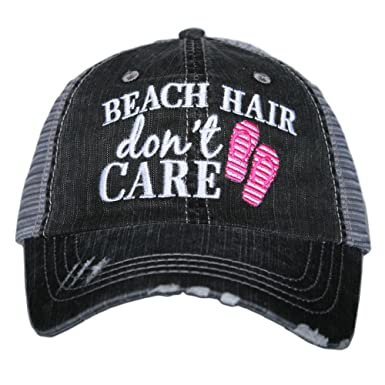 Beach Hair Don t Care FLIP FLOPS Women s Trucker Hats Caps at Amazon  Women s Clothing store  e185e950baa