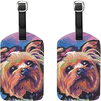 Cutest Yorkies Luggage Tags Bag Travel Labels For Baggage Suitcase