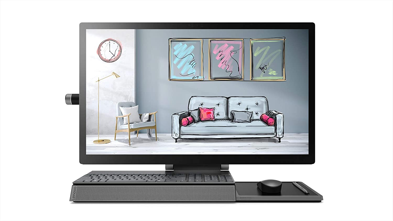 "Lenovo Yoga A940 27"" AIO 2TB SSD 32GB RAM (Intel Core i7-8700k - Turbo 4.70GHz, 32 GB RAM, 2 TB SSD, 27"" 4K Touch Display, Win 10) Desktop All in One PC Computer A940-27ICB"