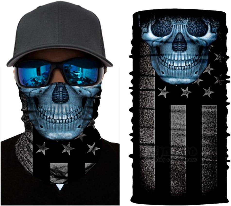 1Pcs Bandana Head Face Mask Neck Seamless Tube Bike Motorcycle Helmet Scarf New