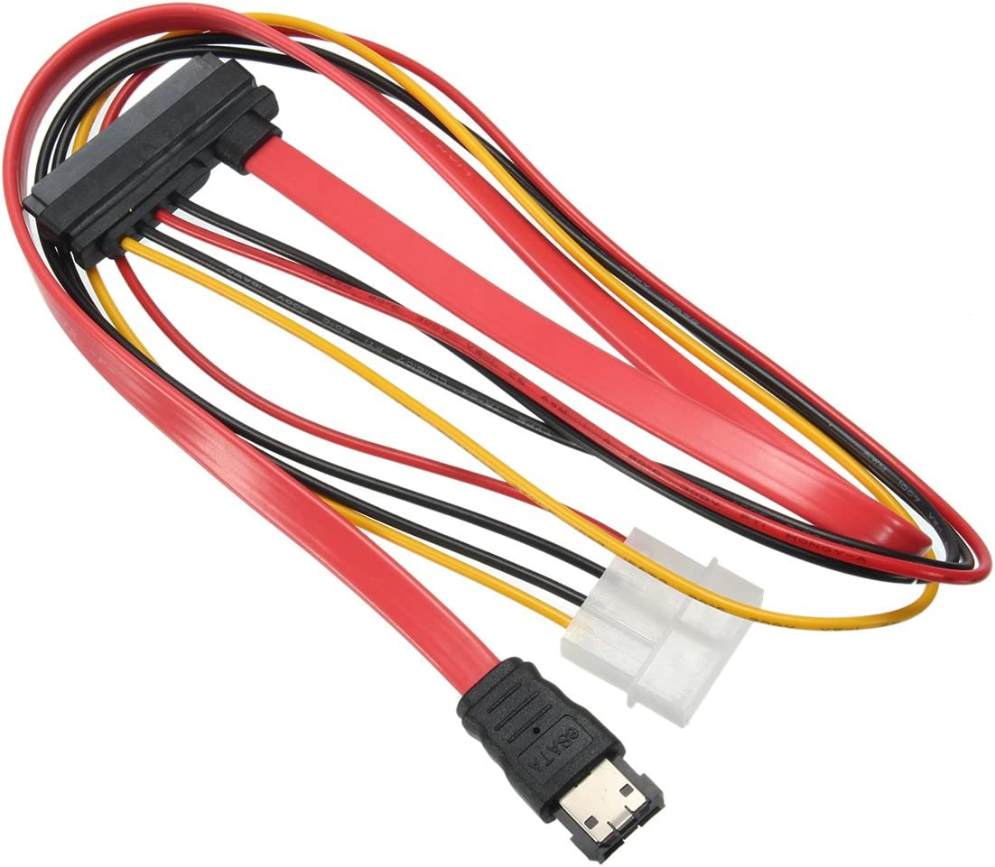 Calvas 7+15 22pin SATA Interface to ESATA Port Large 4Pin Power Interface Conversion Cable