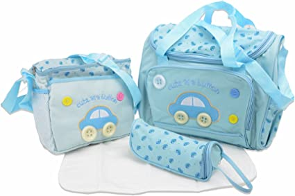 4 PCS Cute lovely  Brand New button embroidery Baby Diaper Nappy Changing Bag