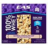 EAS 100% Whey Protein Bar, Oatmeal Chocolate Chip, 5 Count, 2.47 Ounce each