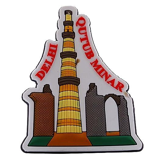 Qutub Minar Goma Imán Nevera Regalo de Colección India Souvenir ...