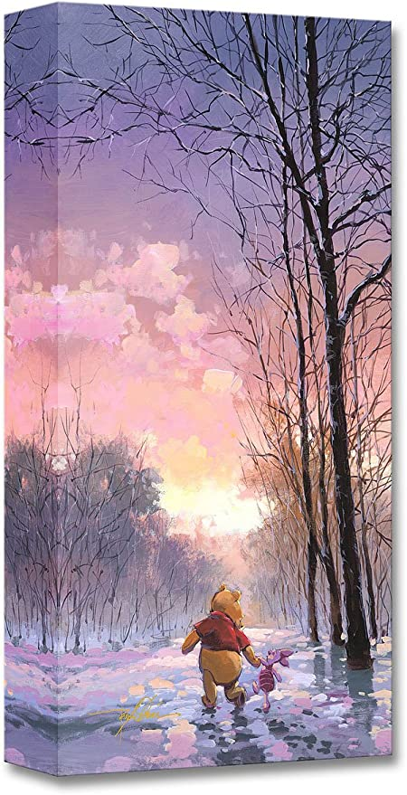 Canvas ONLY Pooh /& Piglet Playing in the Snow