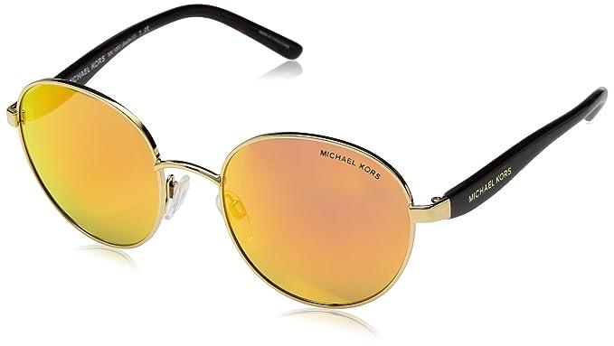 422e681d0e87 Sadie 3 MK1007 10246Q 52 Round Sunglasses | Gold Frame | Orange Mirror Lens