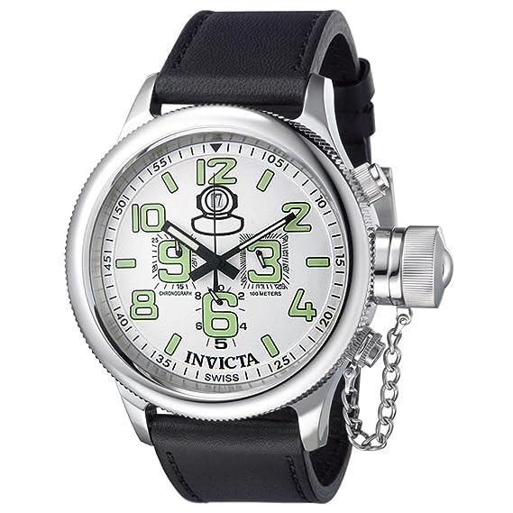 Invicta 7001 - Reloj de pulsera, correa de piel color negro: Amazon.es: Relojes