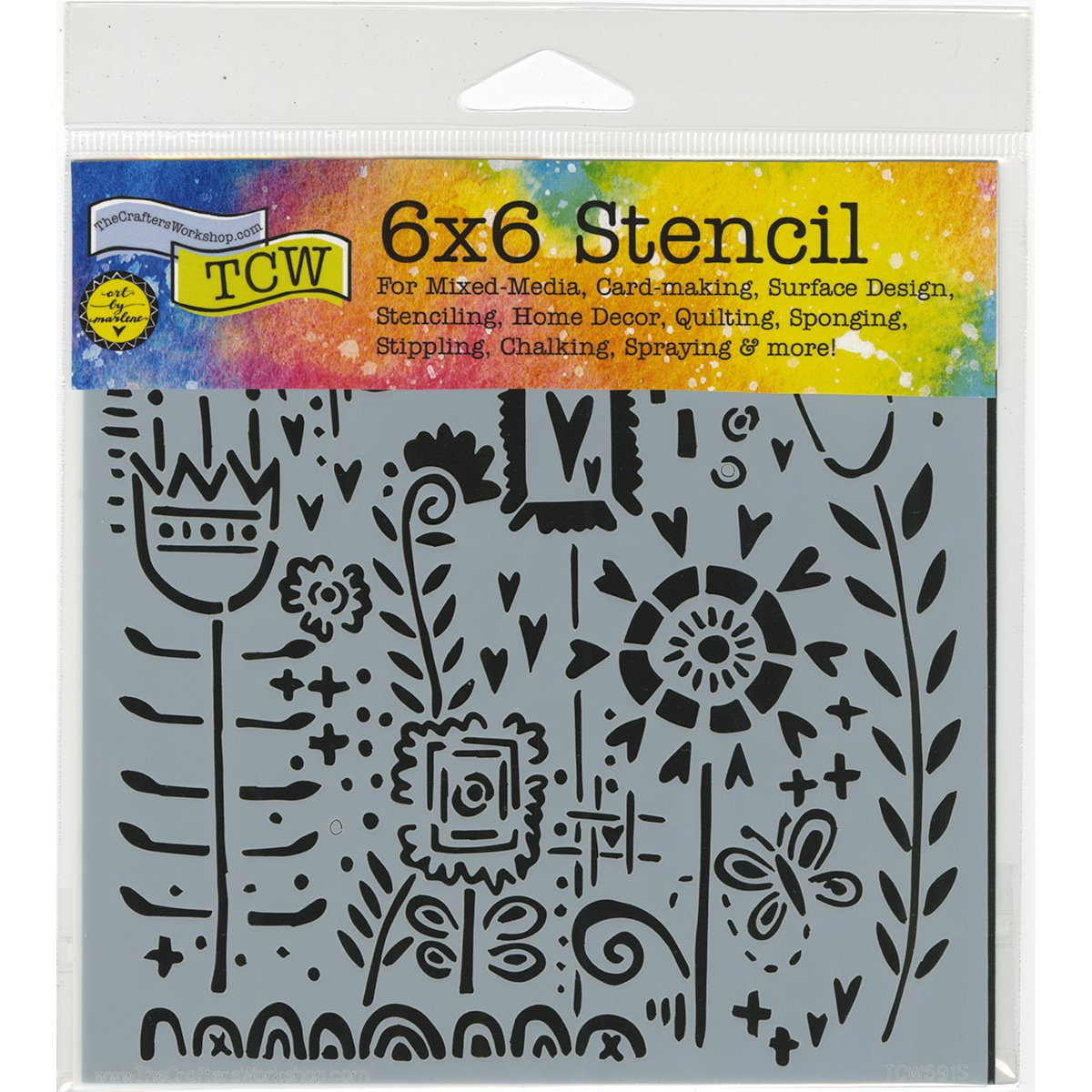 """Stencil The Crafters Workshop 6/"""" TCW Impressions"""