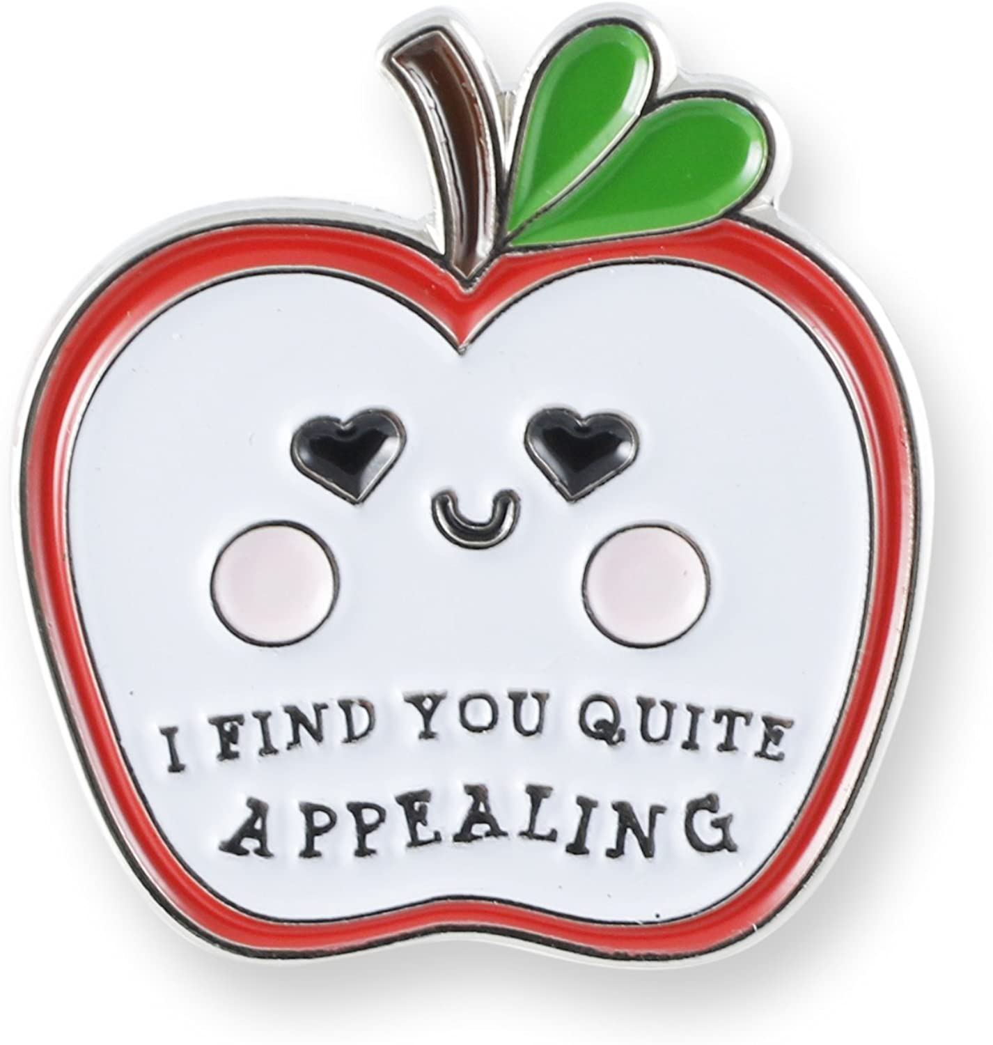Food with Faces Enamel Lapel Pin Set (Apple)