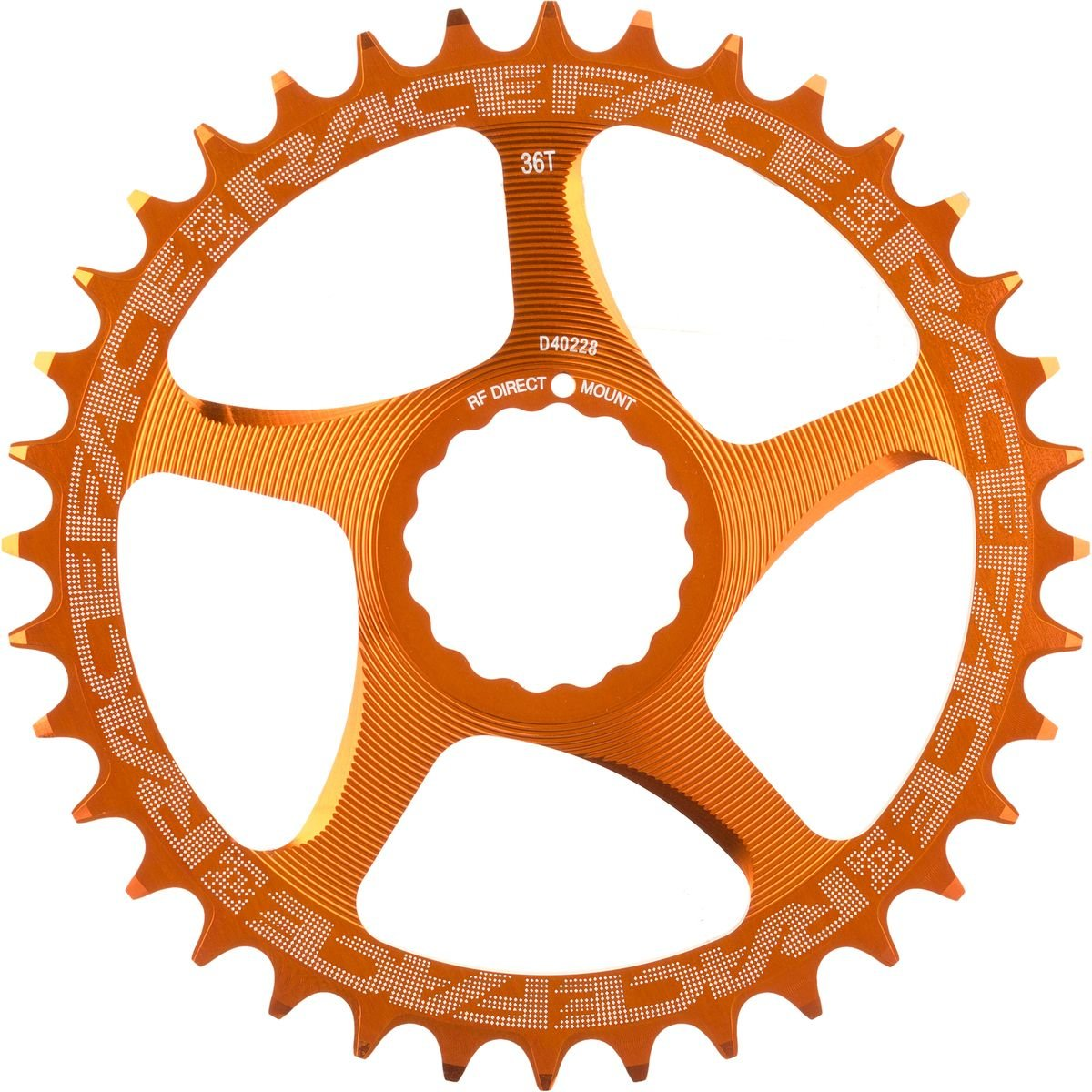 Race Face Narrow Wide Cinch Direct Mount Chainring Orange, 32T