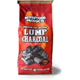 BetterWood Products 3317 100% All Natural Hardwood Lump Charcoal for Outdoor Grill and Smoker, 17.6 Pounds