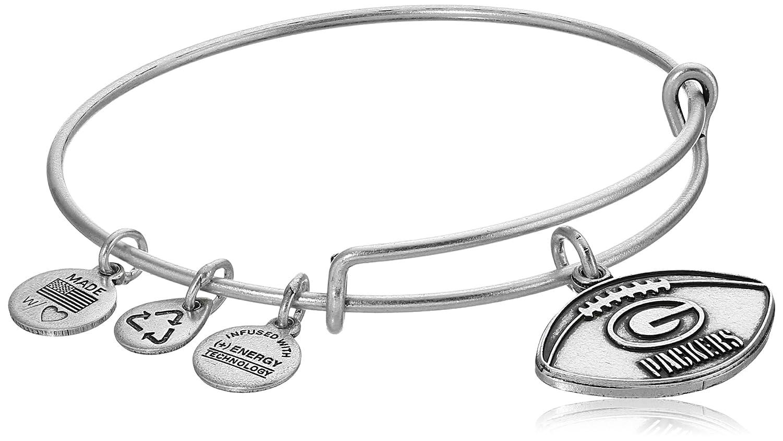 61f09e49e Amazon.com: Alex and Ani Green Bay Packers Football Expandable Rafaelian  Gold Bangle Bracelet: Jewelry
