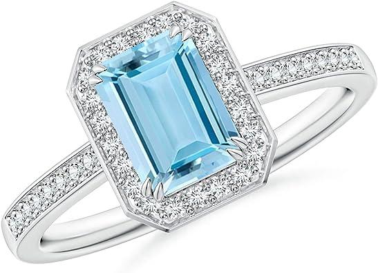 Aquamarine Emerald Cut 7.8x5.7 mm  1.52 Carats  Aquamarine Emerald Cut