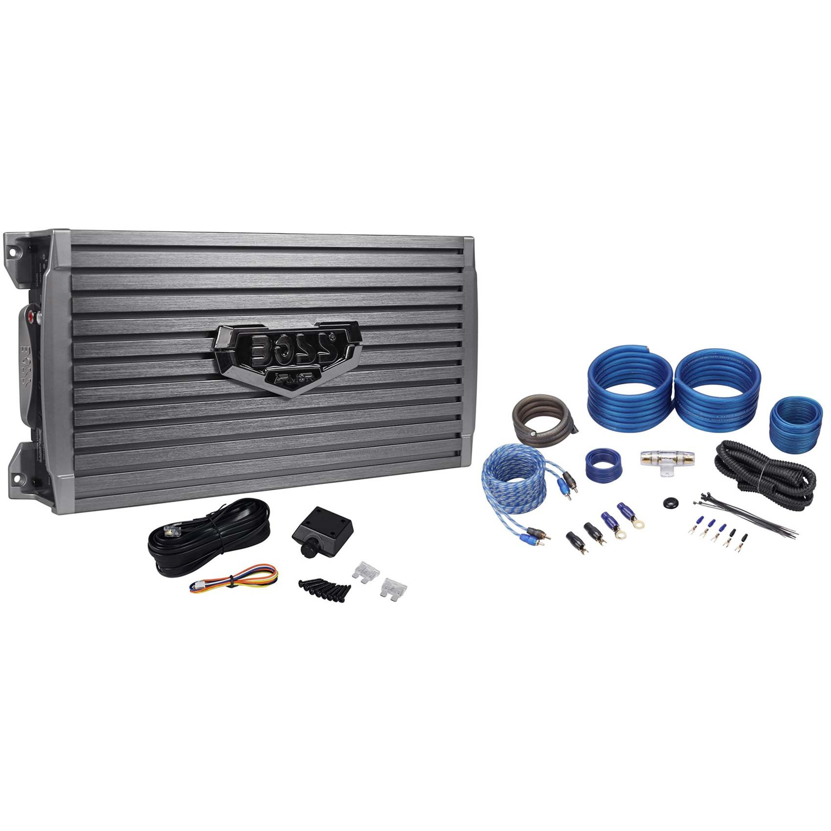 NEW Boss Audio AR2000M 2000W MONO A/B Car Amplifier + 4 Gauge Amp Install Kit