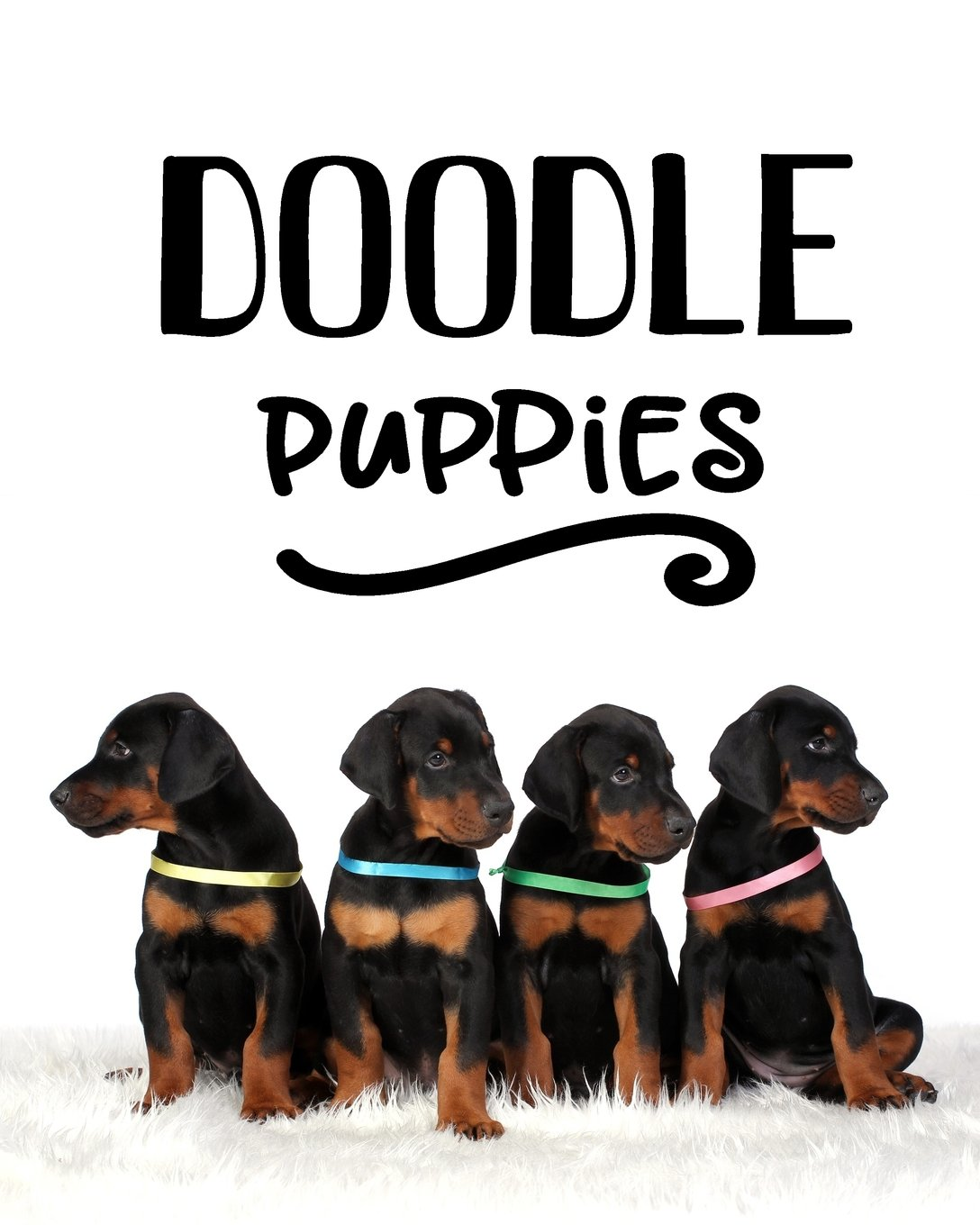 Doodle Puppies: Blank Journals To Write In, Doodle In, Draw In Or Sketch In, 8