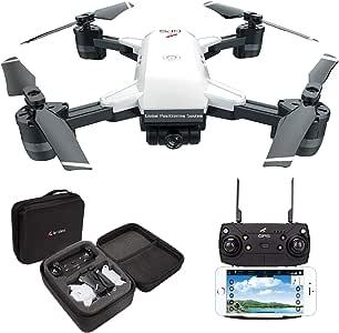 le-idea IDEA10 Drone GPS, WiFi FPV Quadcopter con Cámara 1080P HD con Modo sígueme, 120º Gran Angular, RTF Altitude Hold, Modo Sin Cabeza y Retorno a Casa: Amazon.es: Juguetes y juegos