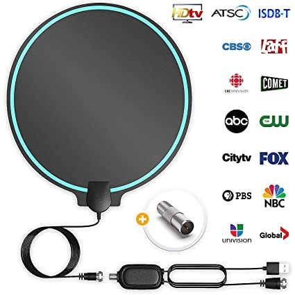 Best Indoor Antenna 2020.All New 2019 Indoor Hdtv Digital Antenna 4k Hd Freeview Life Local Channels All Type Television Switch Amplifier Signal Booster To 150 Mile