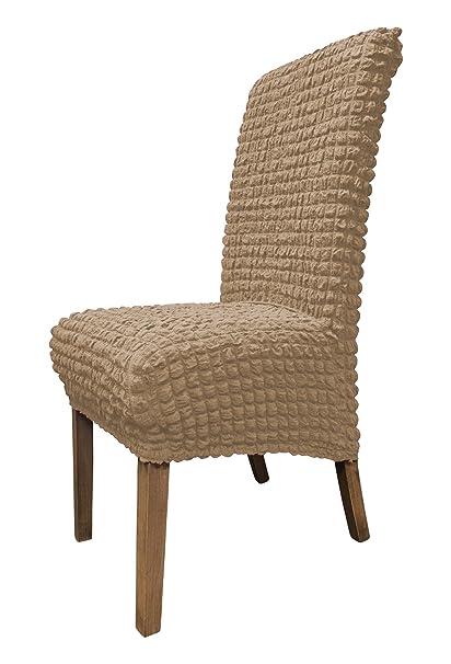 SCHEFFLER-Home Julia 2 Fundas de sillas, Estirable Cubiertas de la sillas, decoración extraíble elástica Funda, con Banda elástica, Altura del Asiento ...