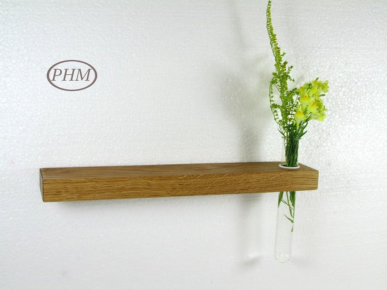 Mini Wandregal mit Vase Eiche 30 cm