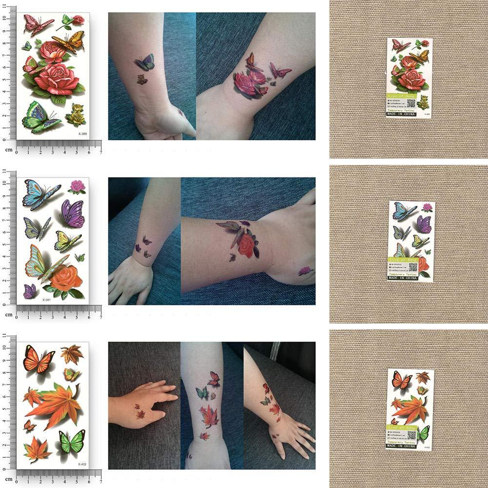 Tatuajes Temporales Adultos Flores 15 Unids Fake Temporal ...