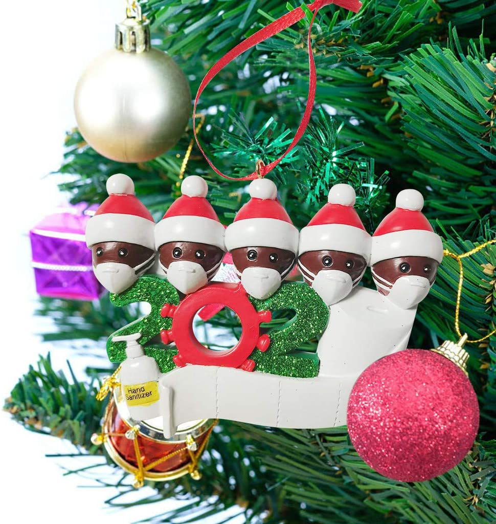 Personalized Family of Decorations for Indoor Outdoor Home Garden Street Uyoo 2020 Christmas Holiday Ornament Christmas Snowman Decor Christmas Tree Pendant