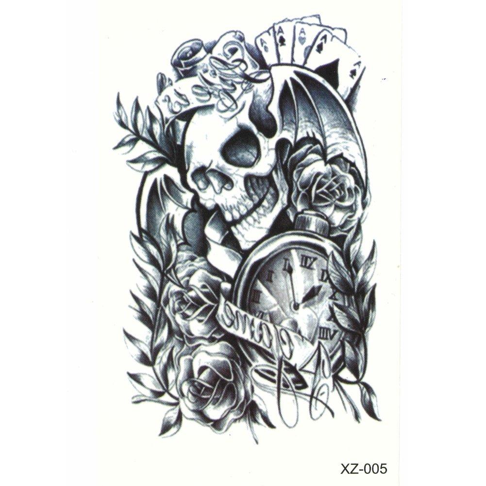 Just Fox – temporäres Tattoo Calavera Murciélago: Amazon.es: Belleza